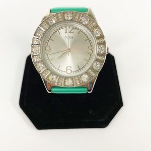 GUESS turquoise green WATCH rhinestones G76040L